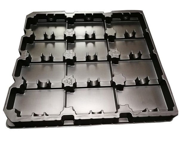 Low static PS thermoforming