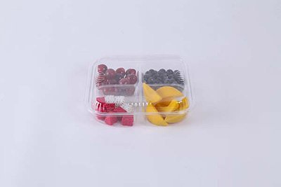 Four compartments plastic container