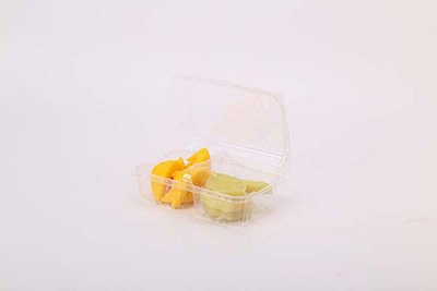 Plastic two compartments fruit tray