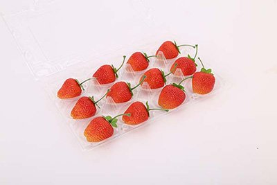 thermoformed fruit and vegetable tray
